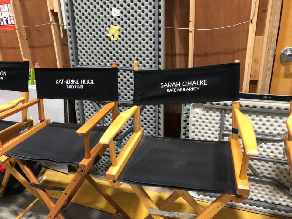 Chairs from the set of 'Firefly Lane' the upcoming Netflix series based on Kristin Hannah's bestselling novel. (Image: Kristin Hannah)