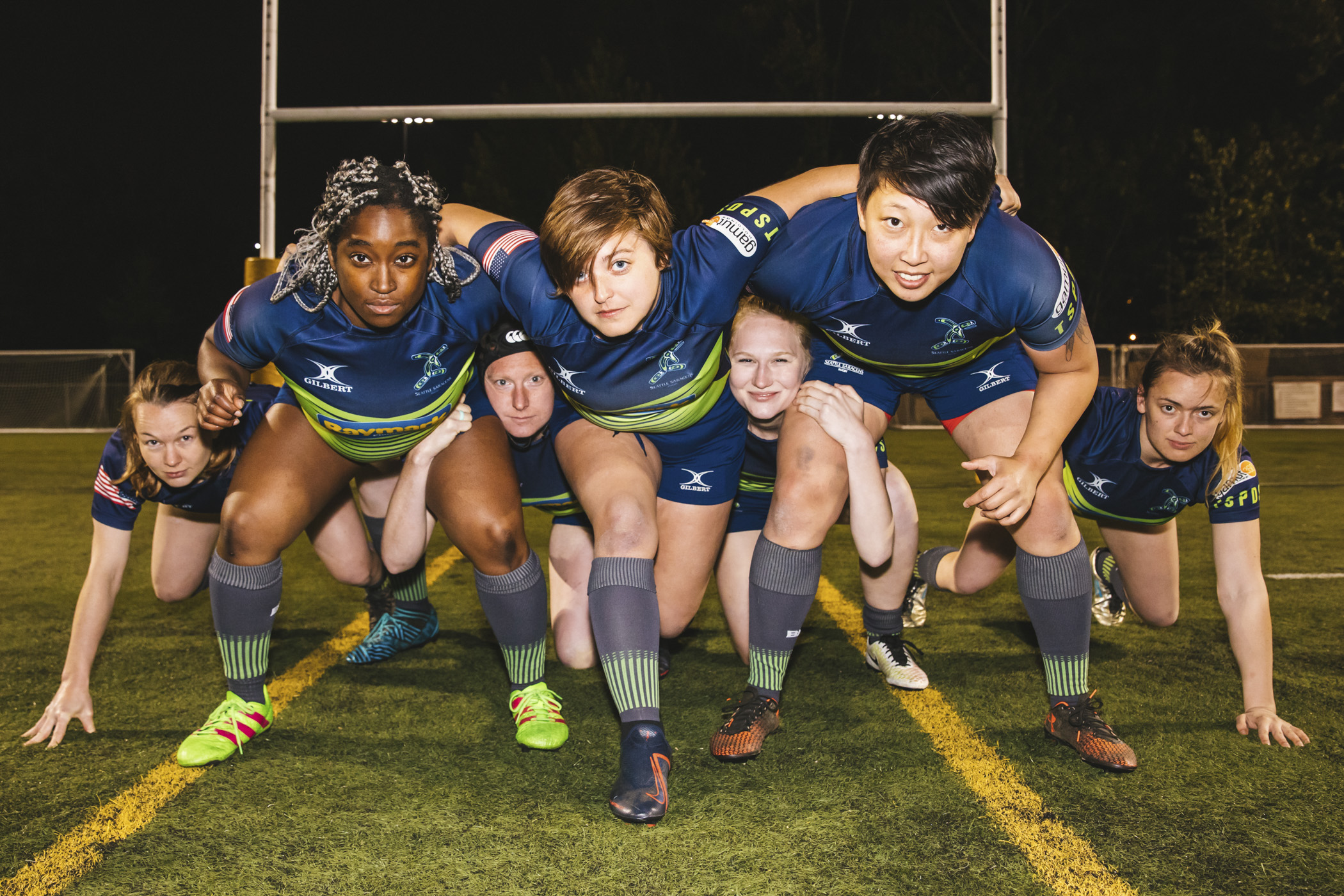LOOK AT THOSE GALS SCRUM DOWN! (Image: Sunita Martini / Seattle Refined).