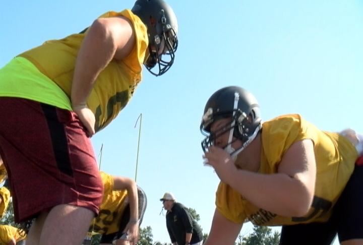 All Stater Jon Saxbury is one of four returning Offensive Line starters for Monroe City