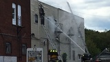 Fire crews battle fire on Crane Street