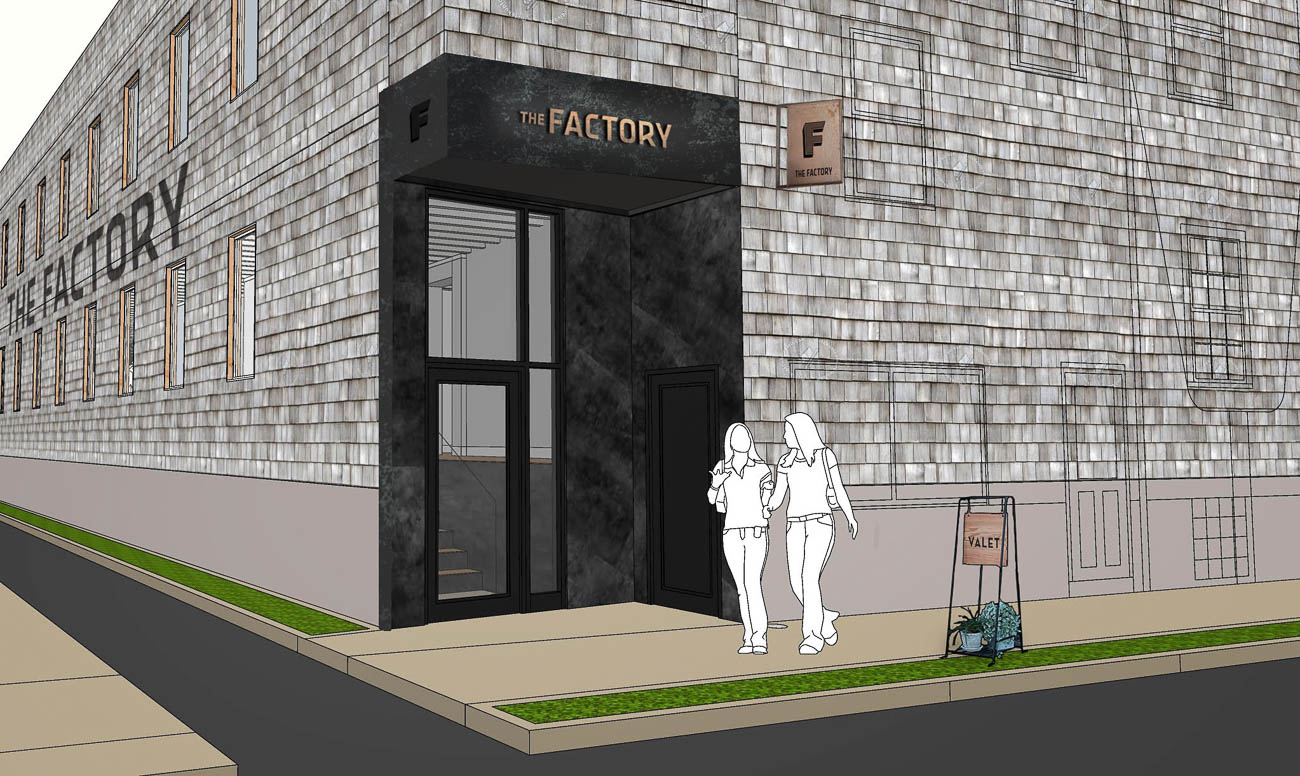 A rendering of what the front of the space will look like post-construction / Image courtesy of Grey Rock Development // Published: 11.11.19