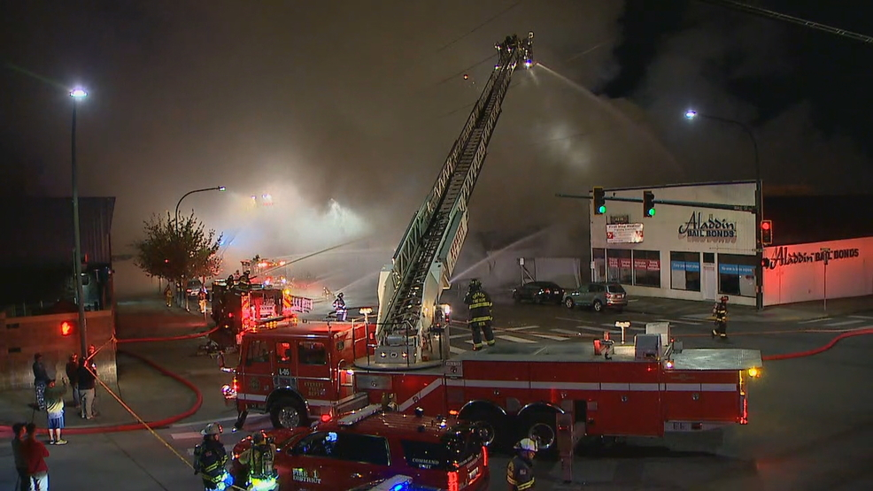 One Person Rescued From 3 Alarm Fire At Everett Furniture Store