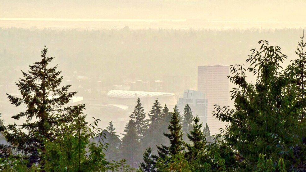 Resultado de imagen para Smoke deteriorates air quality in Portland; changing winds expected to help