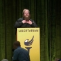 Libertarian convention speech ends in strip tease