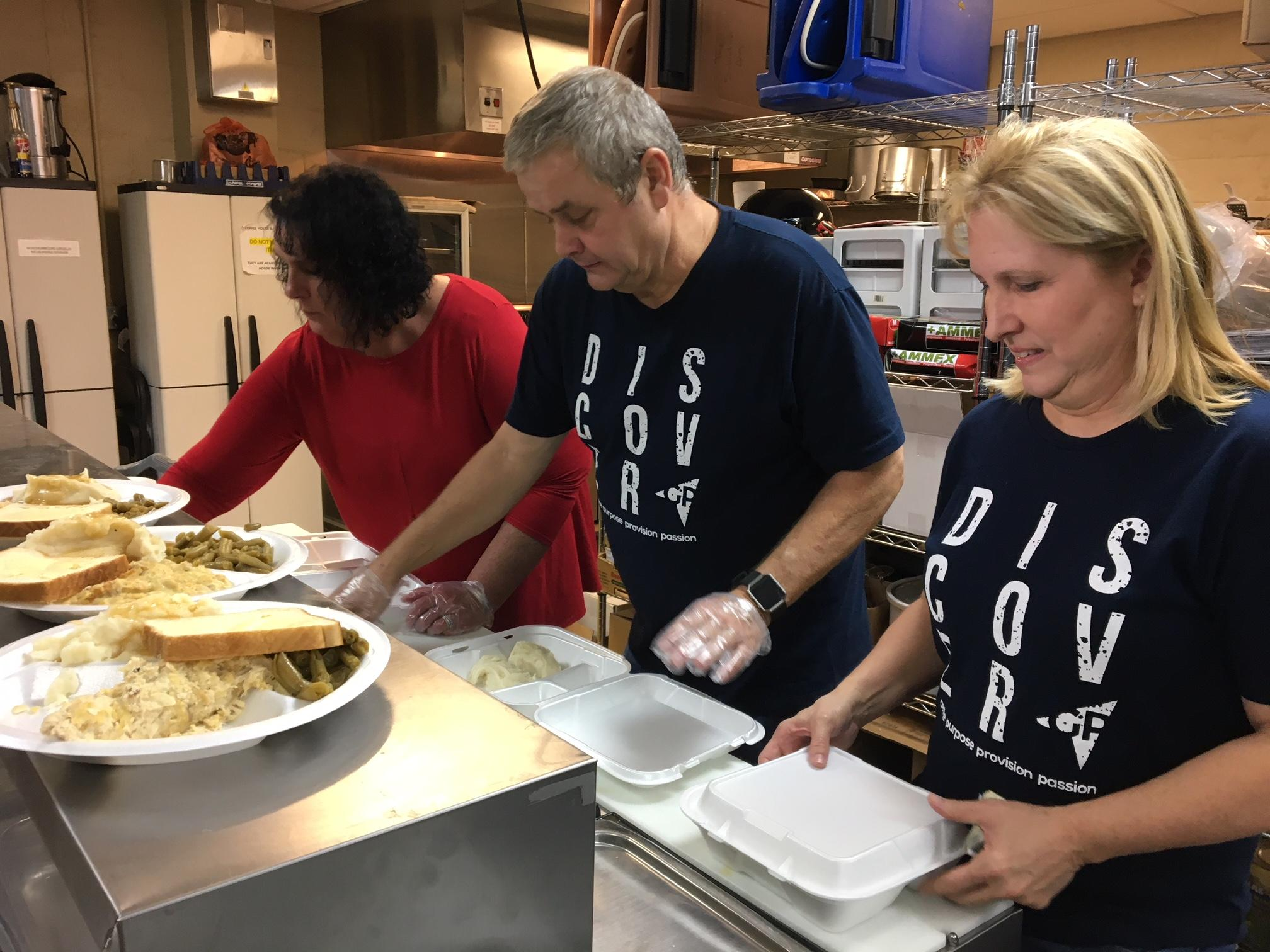 On Sunday nights the Meals of Hope program is in full swing at the Salvation Army's kitchen in Cleveland. (Image: WTVC)<p></p>