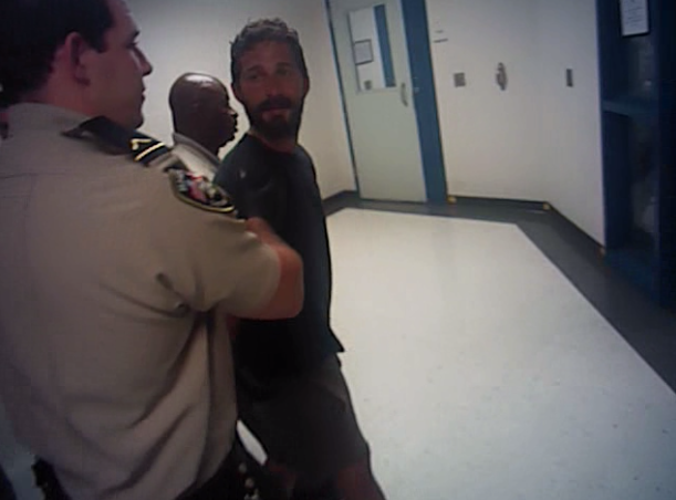 Arrest footage shows Shia LaBeouf screaming profanities at police (Savannah-Chatham Metro Police Dept.)