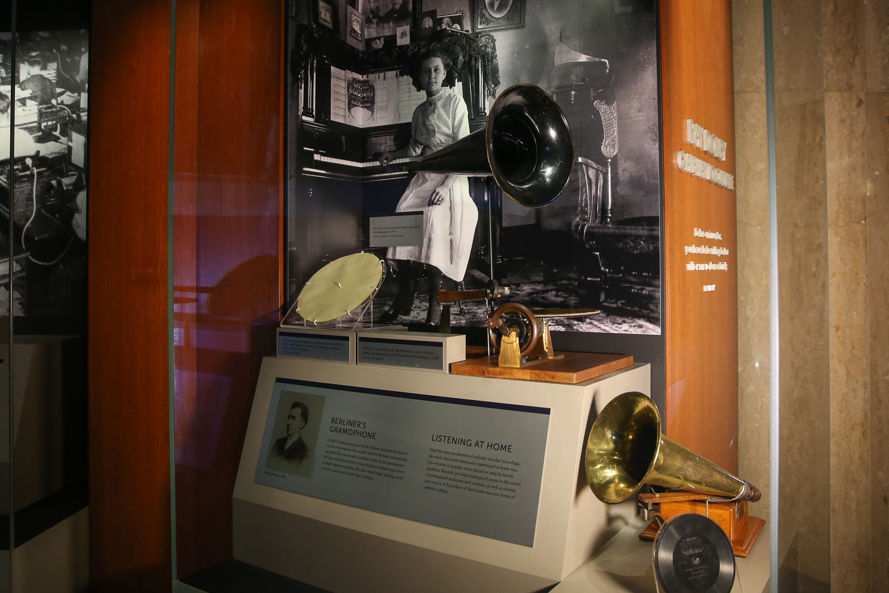 Emile Berliner's Gramophone is also on display.{ }(Amanda Andrade-Rhoades/DC Refined)