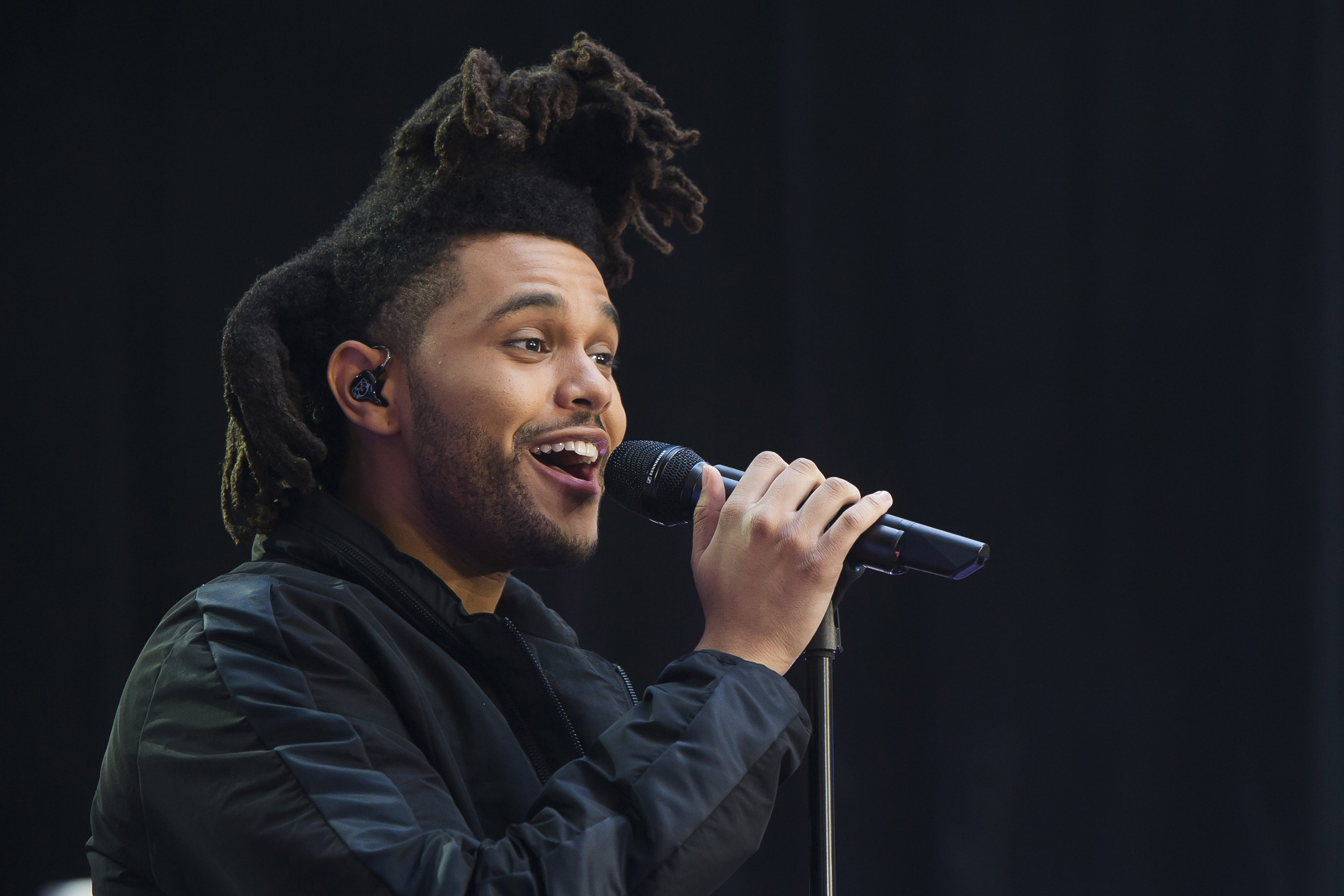 "FILE - In this May 7, 2015 file photo, Abel Tesfaye, known by his stage name The Weeknd, performs on NBC's ""Today"" show in New York. The Weeknd and Mark Ronson and Bruno Mars, the duo behind Â?Uptown Funk,Â? are tied for five nominations each at the Soul Train Awards this year on Nov. 6. The show will air on Centric and BET on Nov. 29.  (Photo by Charles Sykes/Invision/AP, File)"
