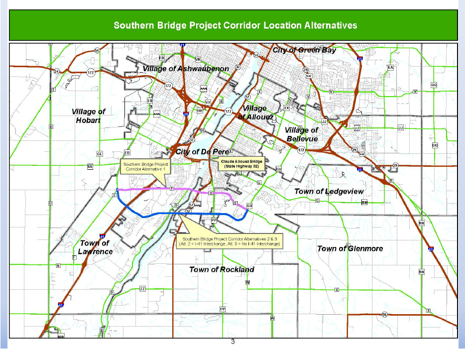 Brown County Southern Bridge Proposal--map of plans<p></p>