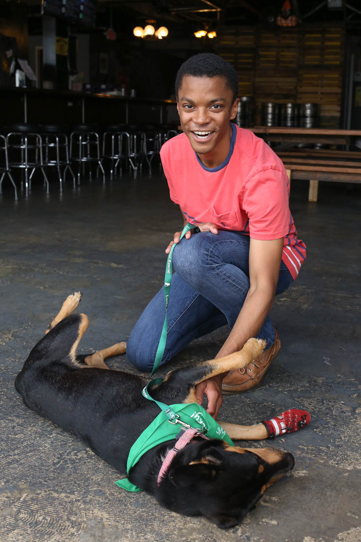 Meet Kam and Chris, a 2-year-old Shepherd mix and a 25-year-old human respectively. Photo location: Midlands Beer Garden (Image: Amanda Andrade-Rhoades/ DC Refined)