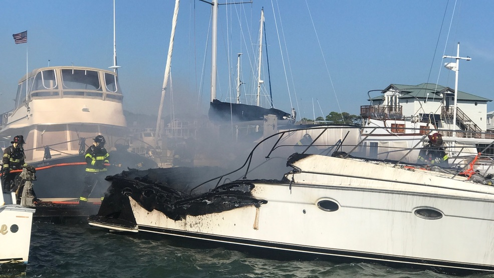 Boat Fire Folly Beach Sc