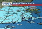 Winter Storm Watch for Southern New England Thursday