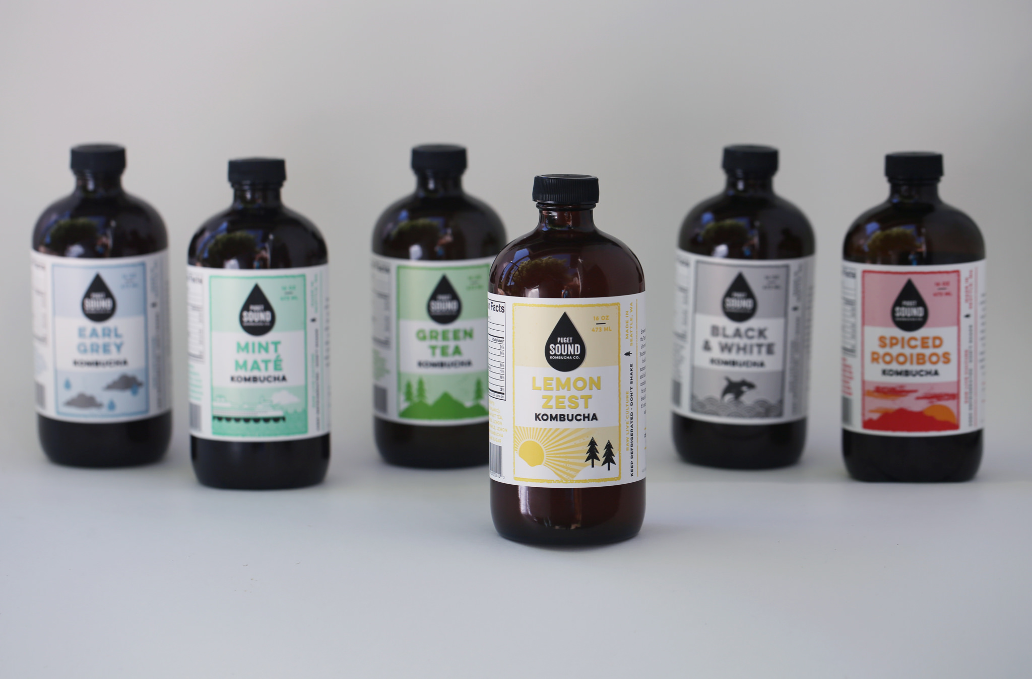 Kombucha lovers will delight in home delivery from Puget Sound Kombucha. Subscribers can get weekly or bi-weekly deliveries of their 6 different flavors. (Image: Puget Sound Kombucha){&amp;nbsp;}<p></p>