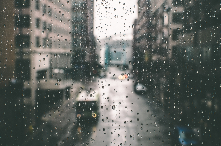 Holy Tears. Plum Street skywalk views on a rainy day. March 1, 2016 / Image: Corey Stevens