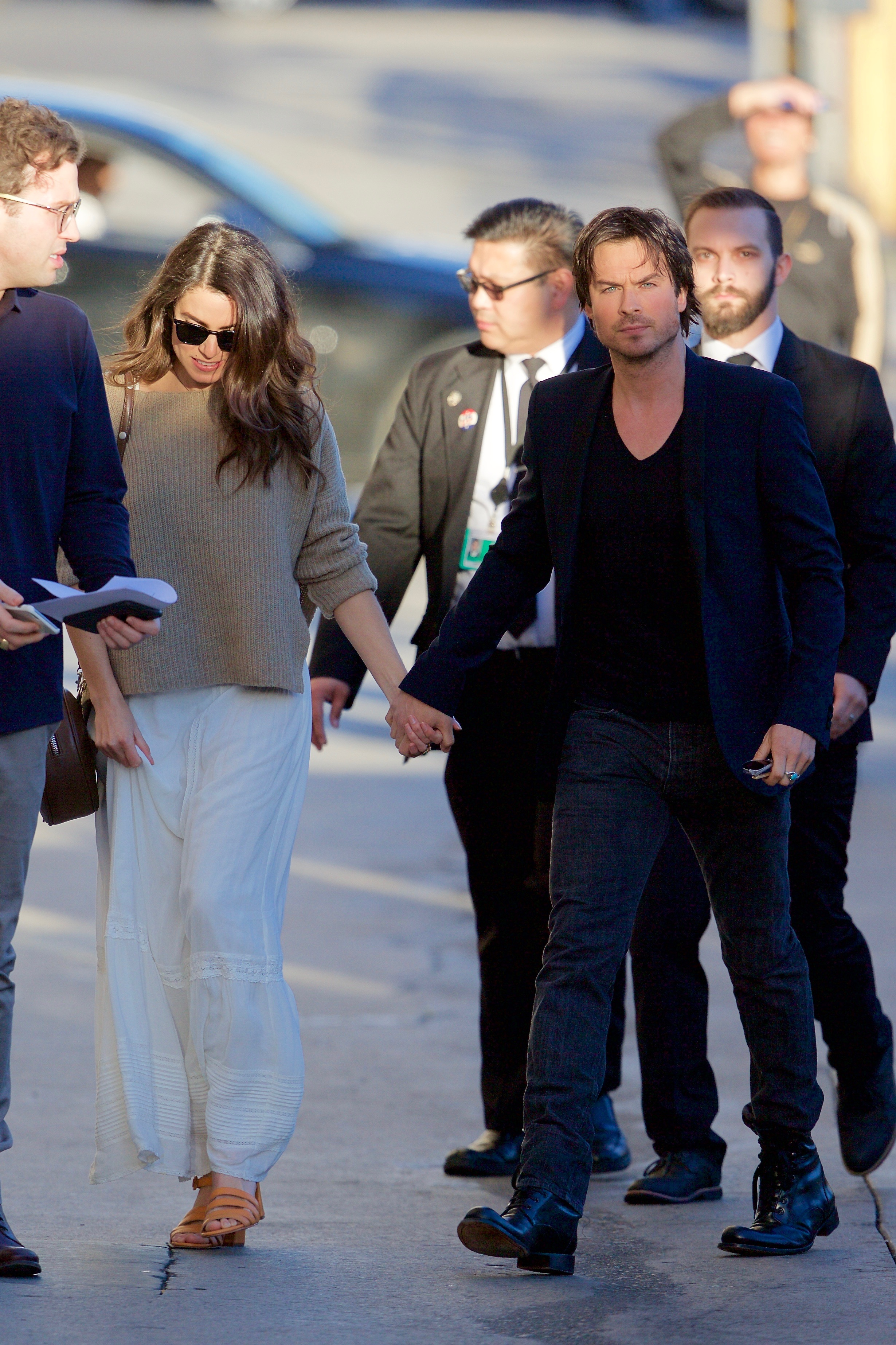 Ian Somerhalder and Nikki Reed seen arriving at the ABC studios  for Jimmy Kimmel Live  Featuring: Ian Somerhalder, Nikki Reed Where: Los Angeles, California, United States When: 07 Mar 2017 Credit: Michael Wright/WENN.com