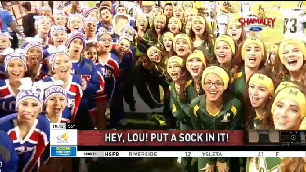 Put a Sock in it Lou: Mayfield vs Las Cruces cheerleaders