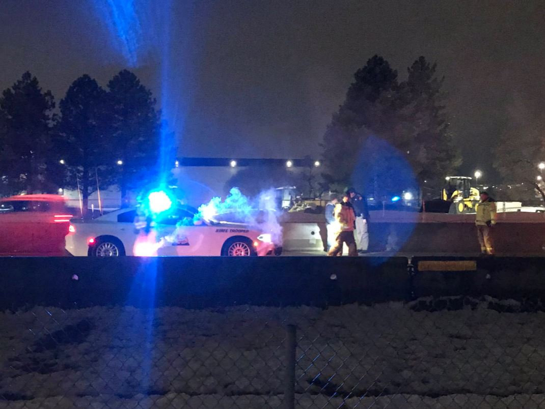 Driver hits UDOT Incident Management truck on S.R. 201, at least one in handcuffs. (Photo: Jeremy Harris, KUTV)