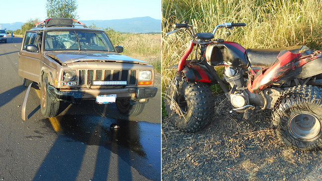 Sheriff: Teen on ATV hit by Jeep on rural road
