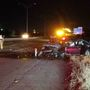 Driver taken to hospital after smashing through median, rolling onto I-44