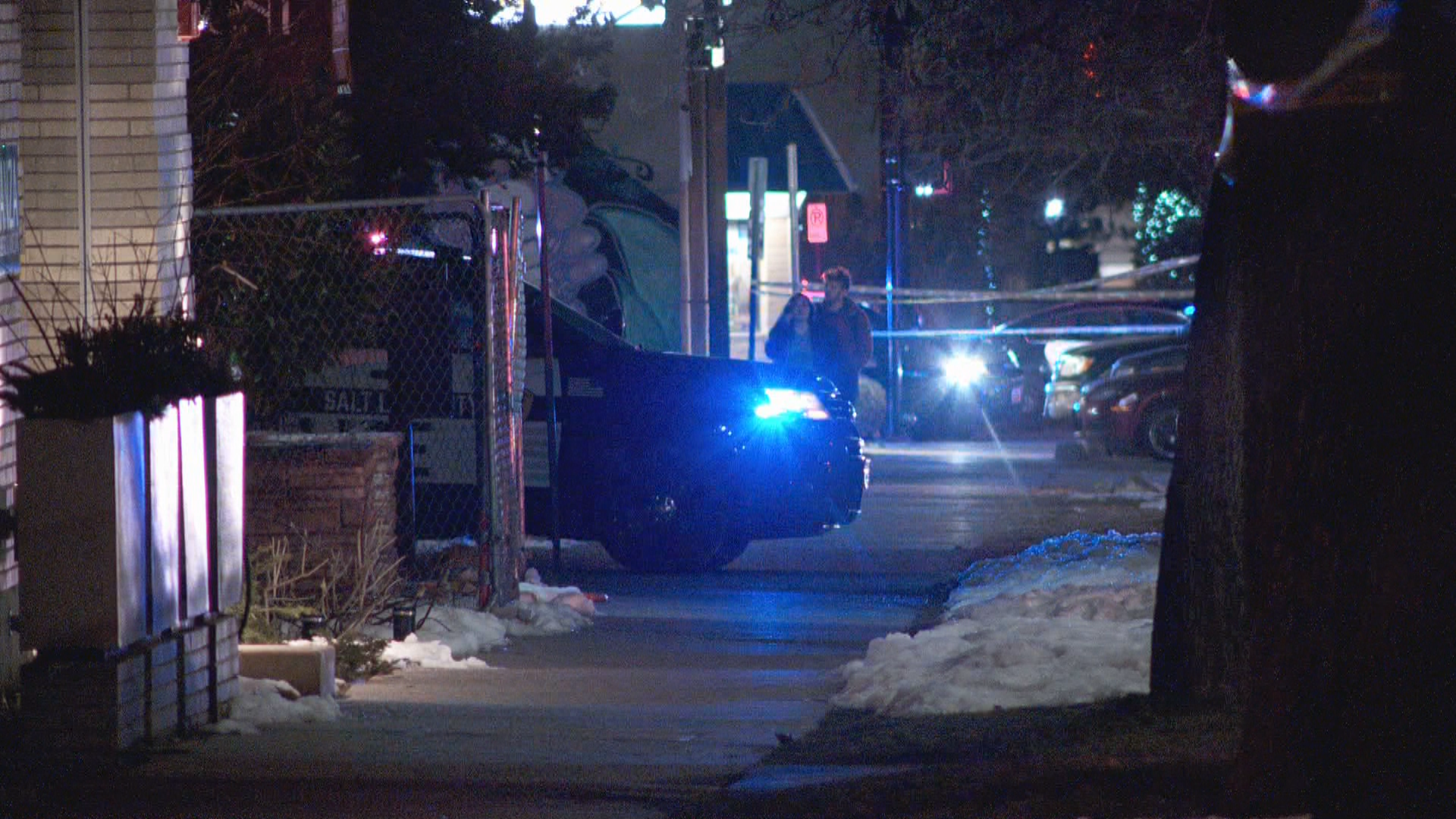 A police K9 was shot and killed while a task force was apprehending a parole fugitive, who was also killed, in Salt Lake City just before midnight on Thursday, Feb. 13, 2020. (Photo: KUTV)