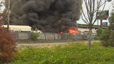 Firefighters battle huge warehouse fire south of Seattle
