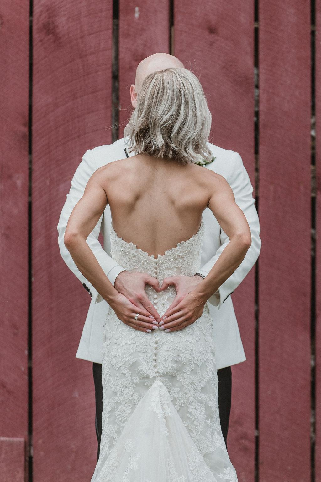 """After a year of wedding planning, it was worth it,"" Summer says. (Image: Chris Ferenzi)"