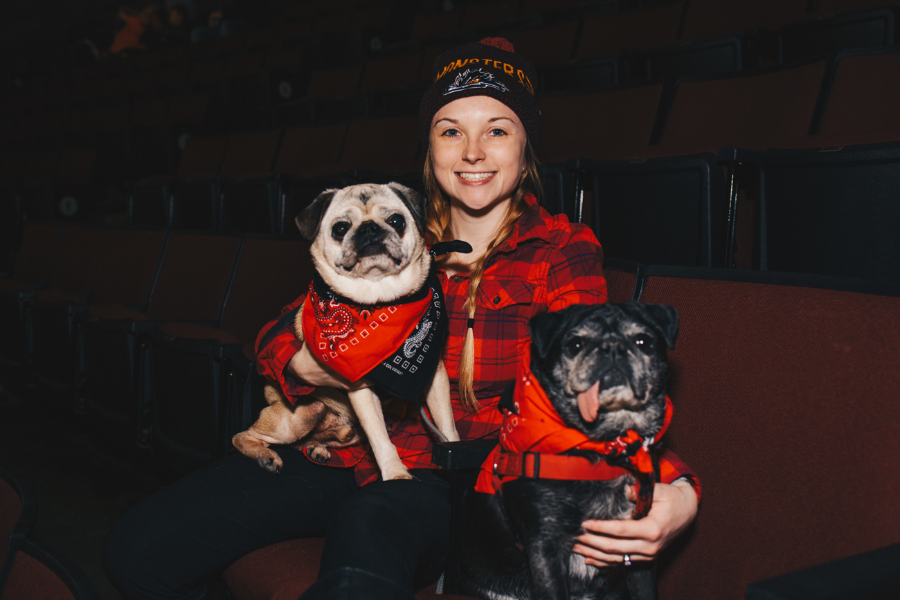 Ben and Melky with human Colleen Kysor / Image: Catherine Viox // Published: 3.21.19