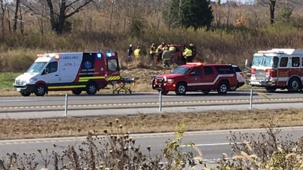 Kelso man injured after rollover on I-55 in Cape Girardeau Co., MO (source kfvs).jpg