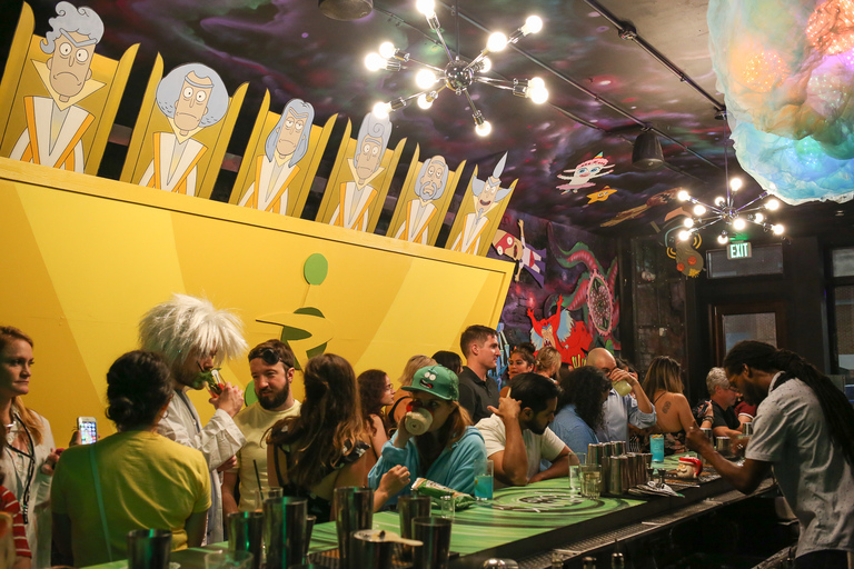 The latest version of the pop-up bar from Drink Company opens up tonight, honoring all of the details of 'Rick and Morty', a show on Cartoon Network aimed at millennials. (Image: Amanda Andrade-Rhoades/ DC Refined)