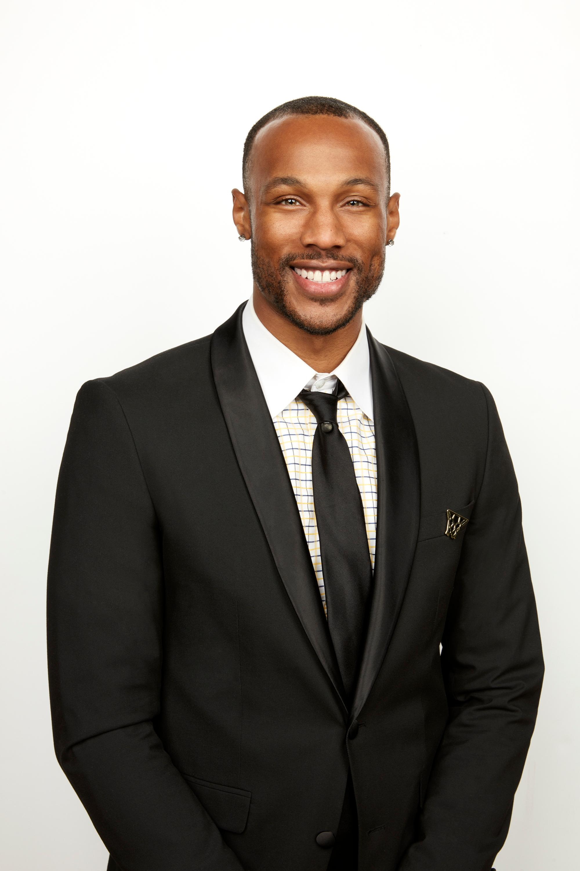 Now a professional dunker in LA, Christon hopes finding love with the Bachelorette will be a lay-up.{ } (Image: ABC/Craig Sjodin)