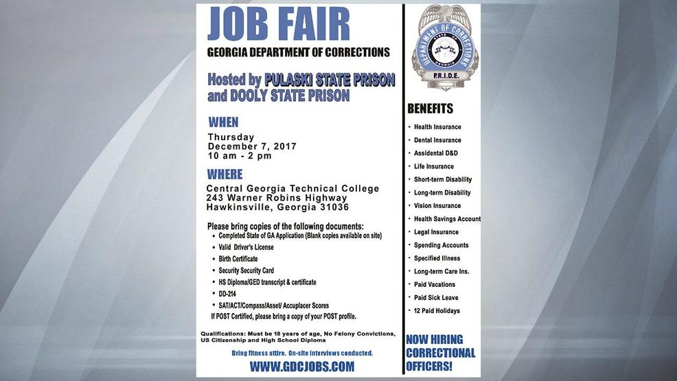 Georgia department of corrections holding job fair to hire georgia department of corrections holding job fair to hire correctional officers altavistaventures Images