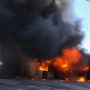 Crews battle large commercial fire in Elkhart