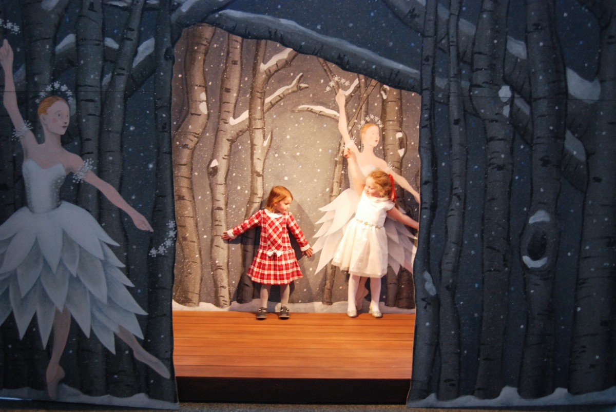 Visitors to The Nutcracker are encouraged to linger in the lobby and check out The Nutcracker sets and other amusements scattered throughout McCaw Hall. There is a Mother Ginger statue, and giant mouse statue, and three mini-stages, plus Seattle's tallest Christmas tree. (Rebecca Mongrain/Seattle Refined)