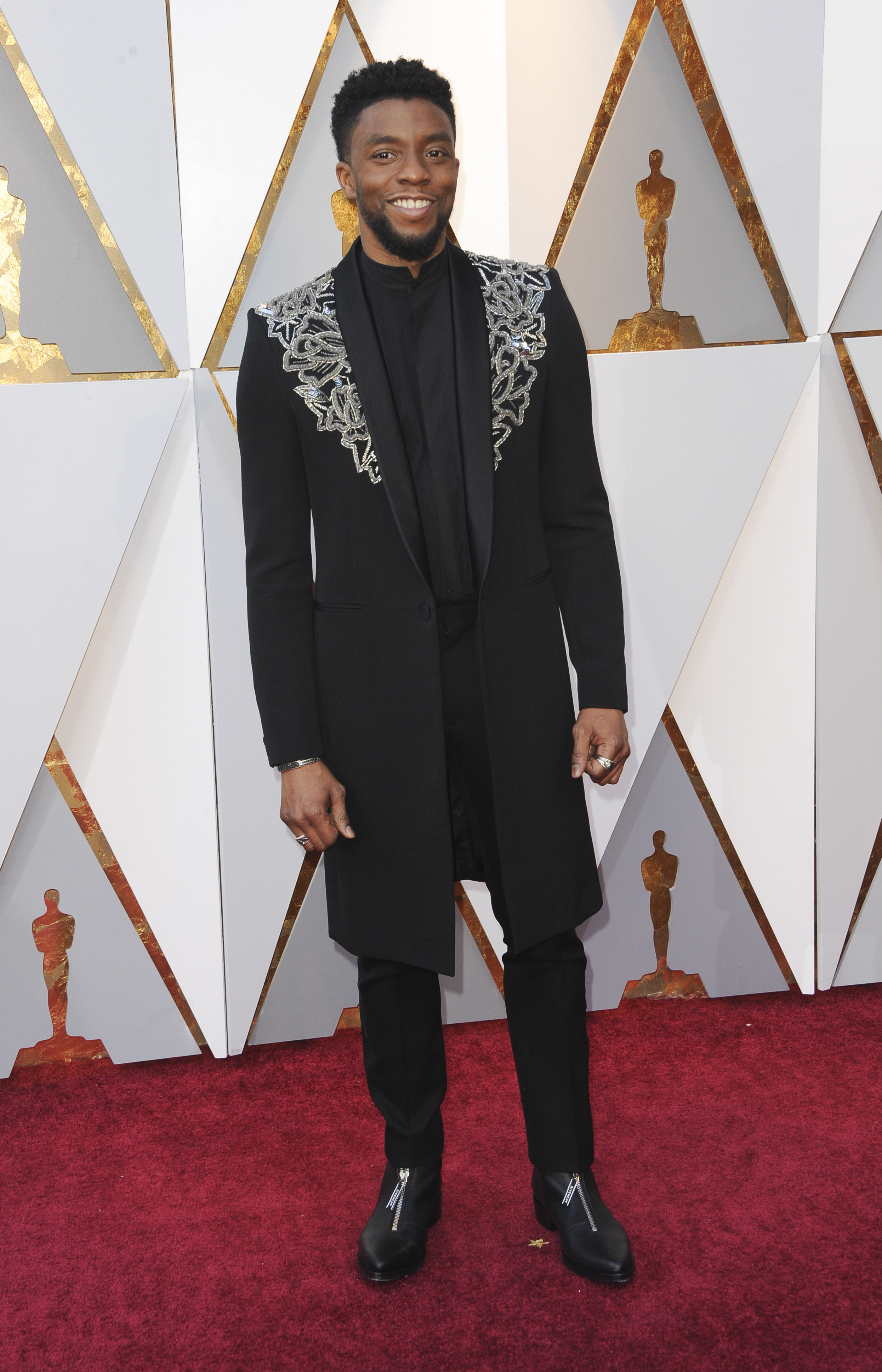 Chadwick Boseman arrives at the 90th Annual Academy Awards (Oscars) held at the Dolby Theater in Hollywood, California. (Image: Apega/WENN.com)<p></p>