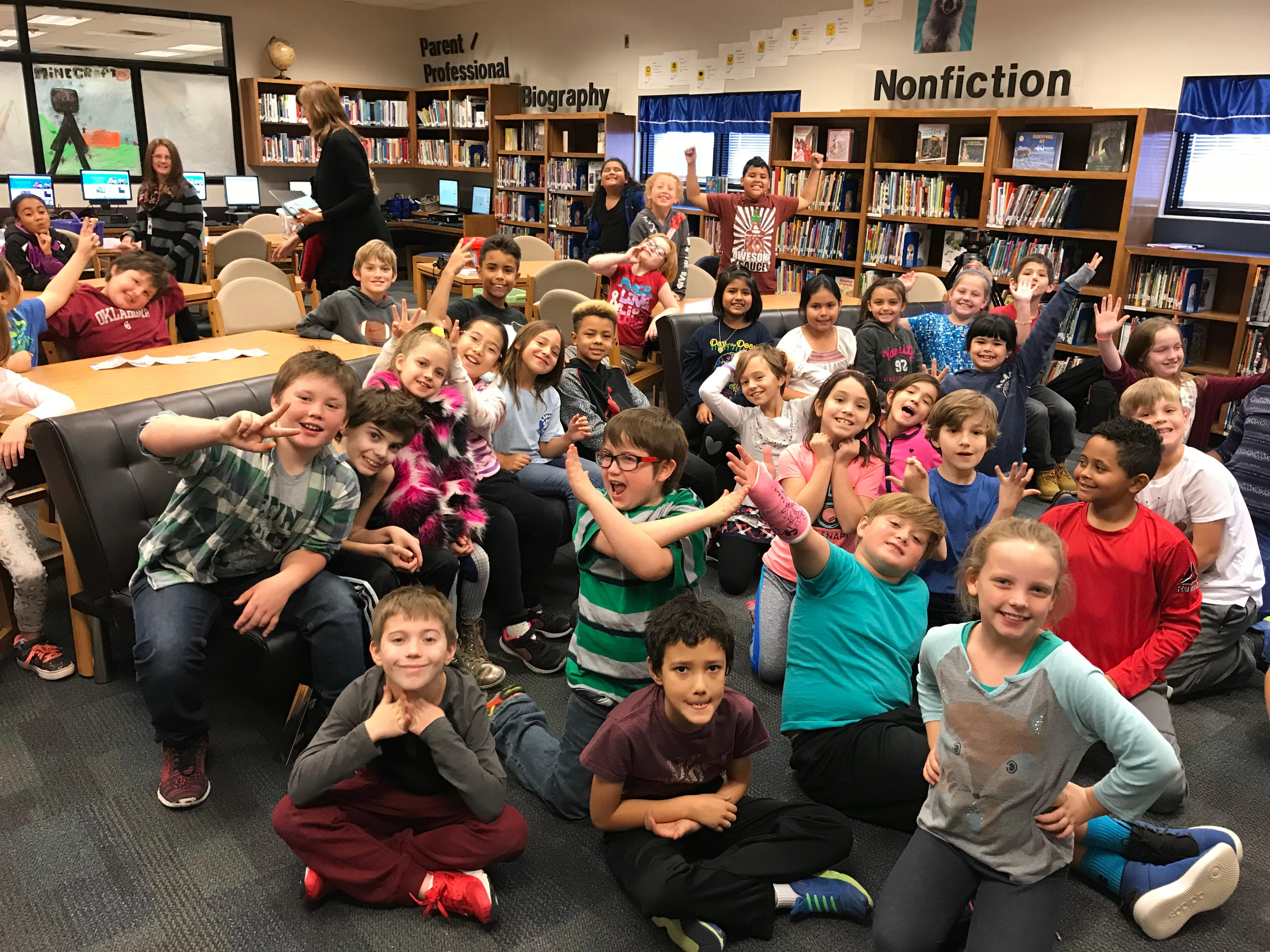 The 3rd graders at Lincoln Elementary in Norman on Our December 12, 2017 visit!