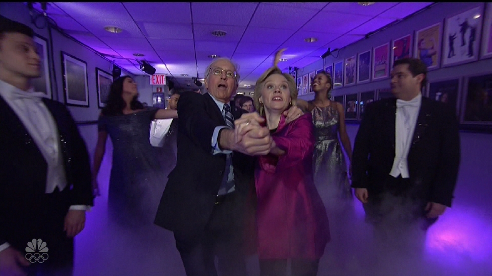 Hillary sends Bernie off with one last dance on Saturday Night Live