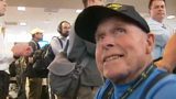 Honor Flight from Oregon arrives in D.C. to hero's welcome: 'Humbling'
