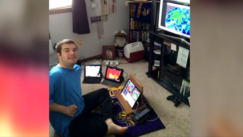 Northern Iowa Man Doesn't Let Cerebral Palsy Hinder His Meteorology Dreams