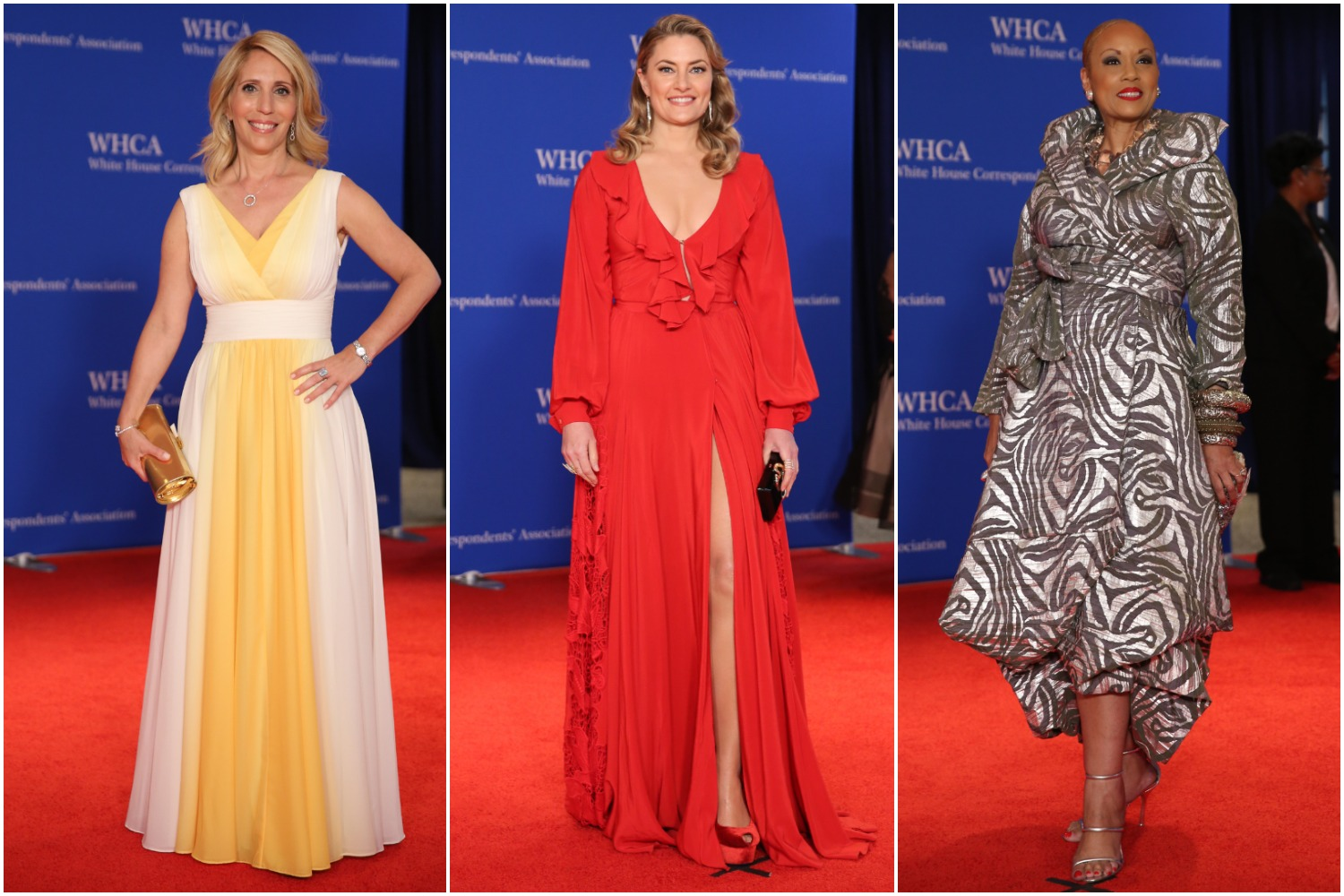 The White House Correspondents' Dinner is a chance for media figures, politicians and other luminaries to put on their best outfits and party the night away. Some came to the red carpet to slay, but others didn't exactly deliver.{ }(Amanda Andrade-Rhoades/DC Refined)
