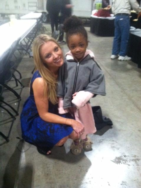 Leah Jeffries with actress, Kaitlyn Doubleday who plays Rhonda Lyon on Empire.