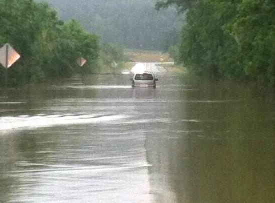 U.S. 78 flooded in Eden, near Pell City From @shaggyhairjay