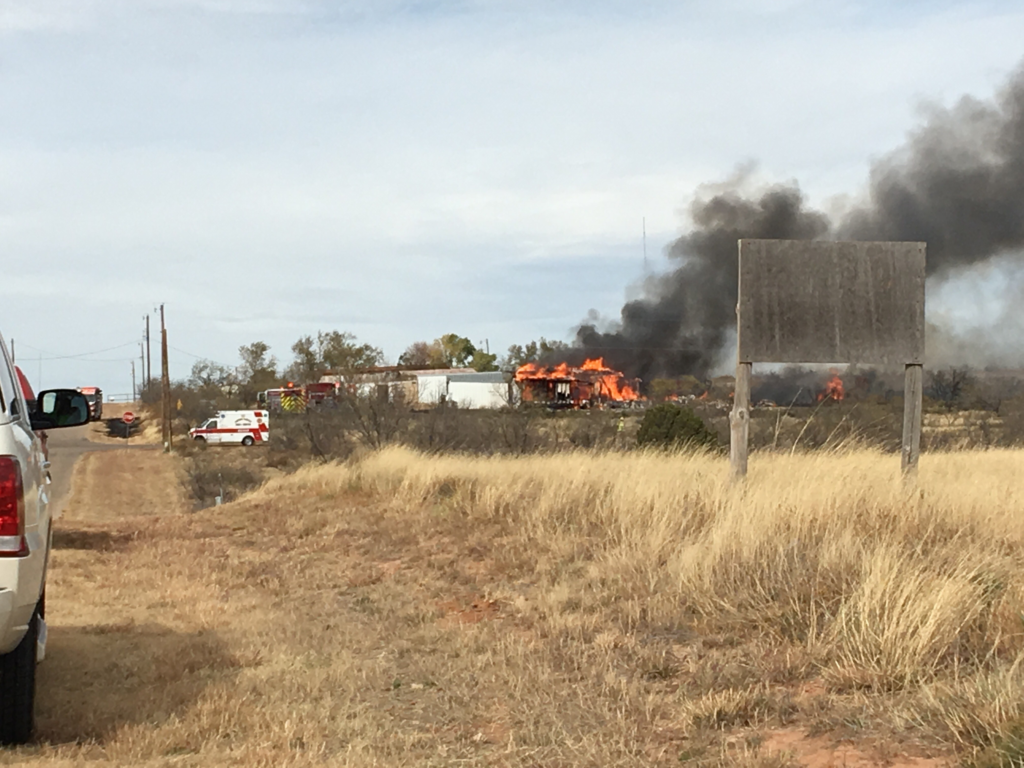 Several structures are being lost due to a fire that started as a grass fire in La Paloma and has spread to buildings. (ABC 7 Amarillo - Dakota Kessler)<p></p>