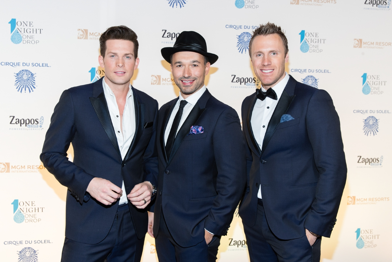 The Tenors at One Night for One Drop 2017. (Photo courtesy of Erik Kabik/ErikKabik.com)