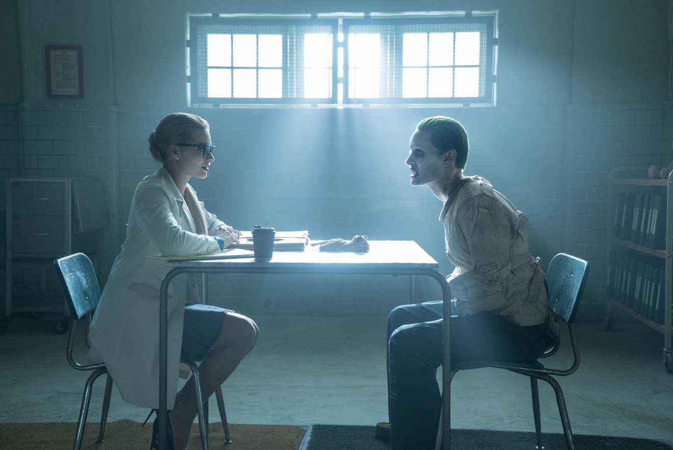 "MARGOT ROBBIE as Harley Quinn and JARED LETO as The Joker in Warner Bros. Pictures' action adventure ""SUICIDE SQUAD,"" a Warner Bros. Pictures release."
