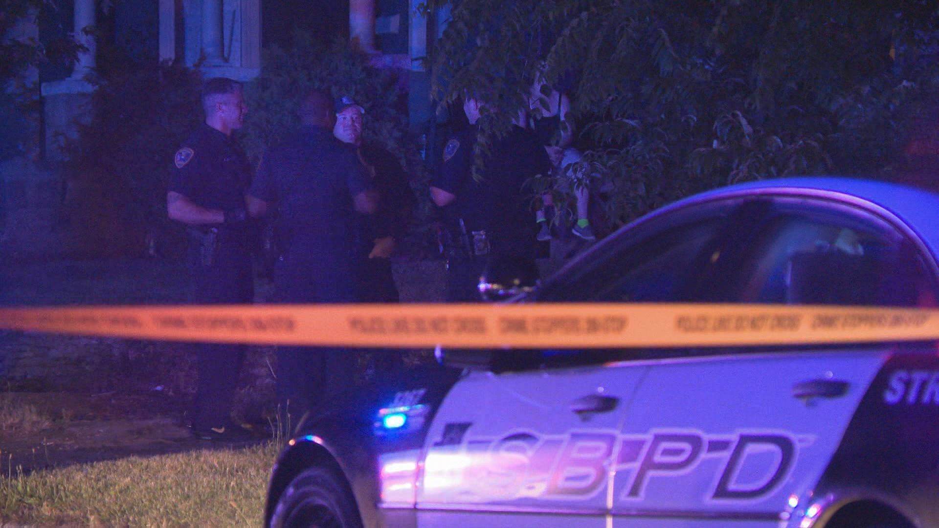 Police investigate a shooting. // WSBT 22 photo