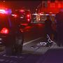 Person walking with bike hit, injured by car