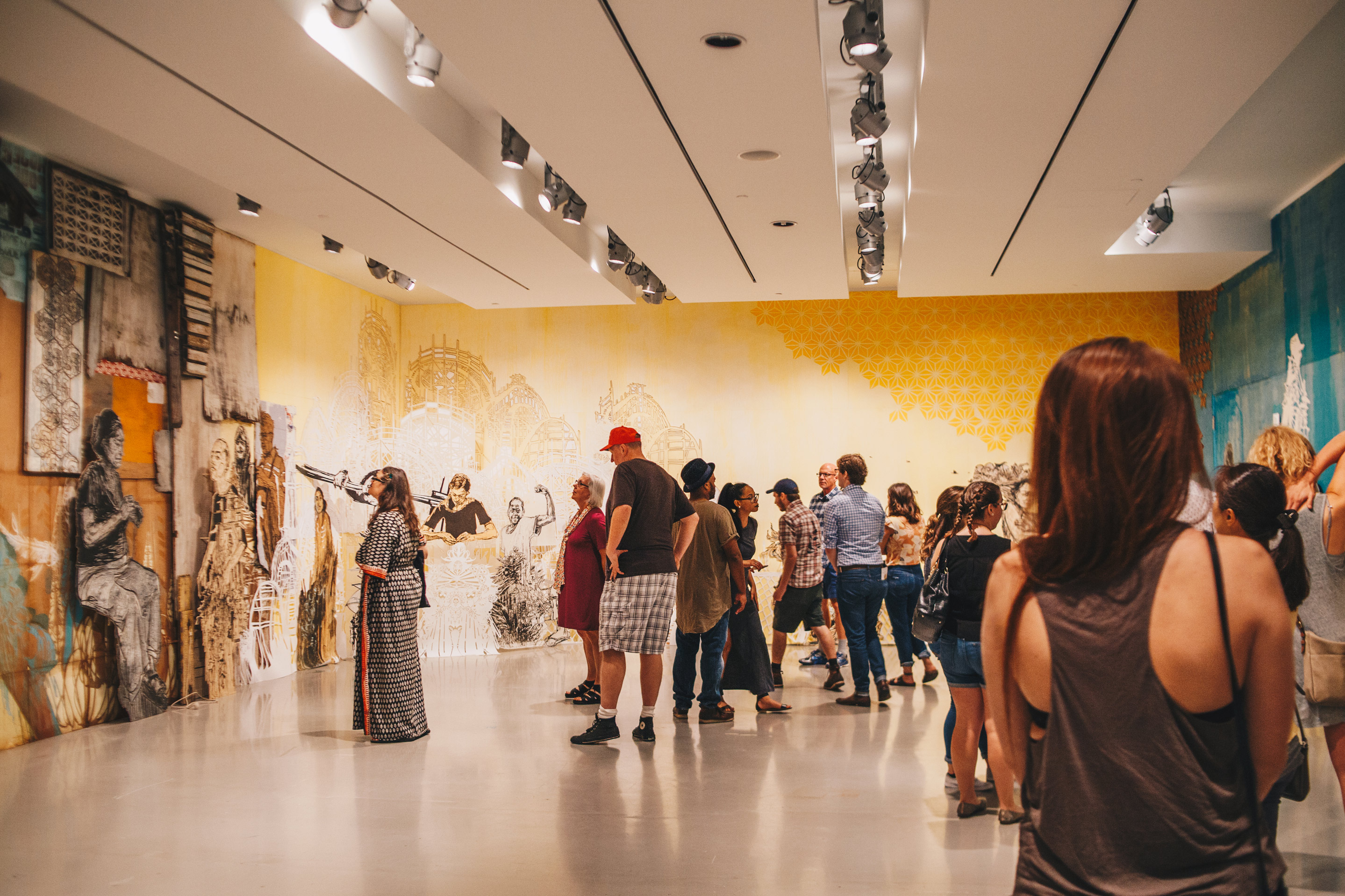 Opening night at The Swoon exhibition at CAC (where the Johnson Foundation established free admission). / Image: Catie Viox{&amp;nbsp;}// Published: 12.9.17<p></p>