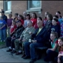 Girl Scout troops present recycled bench to Illinois Veterans Home