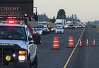 Traffic backup on I-5 northbound at milepost 280 near Donald-Aurora exit - Oregon State Police photo.jpg