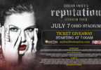 Taylor Swift concert ticket giveaway